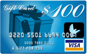100 Dollars Gift Card