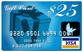25 Dollars Gift Card