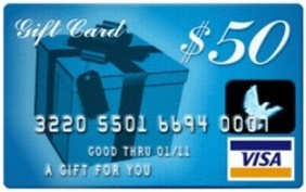 50 Dollars Gift Card